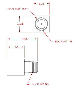 Inlet Fitting - 10-32 UNF