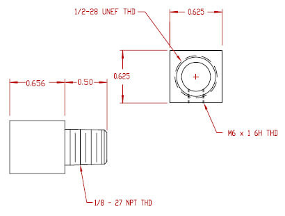 Inlet Fitting - M6 Thread